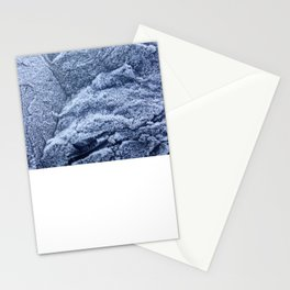 Winter nights frosty mountain Stationery Cards
