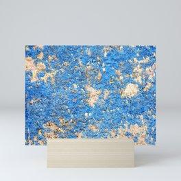 Textures in Blue Mini Art Print
