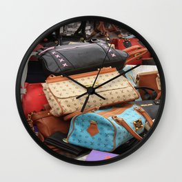 Designer Fashion Bags Wall Clock