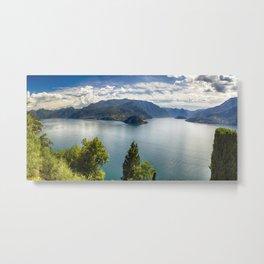 Lake Como Panoramic View Metal Print