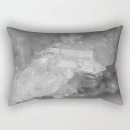 Modern Raw Crystal Quartz Cluster Rectangular Pillow