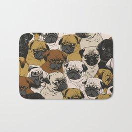Social Pugs Bath Mat