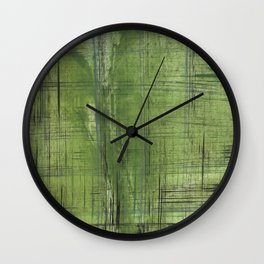 Green striped Wall Clock