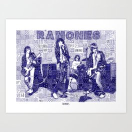 Ramones are on the wall Art Print