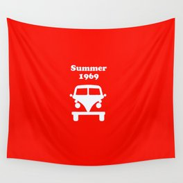Summer 1969 - red Wall Tapestry