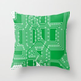 Computer board pattern Throw Pillow