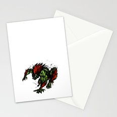 Blanka Rush! - Street Fighter Stationery Cards