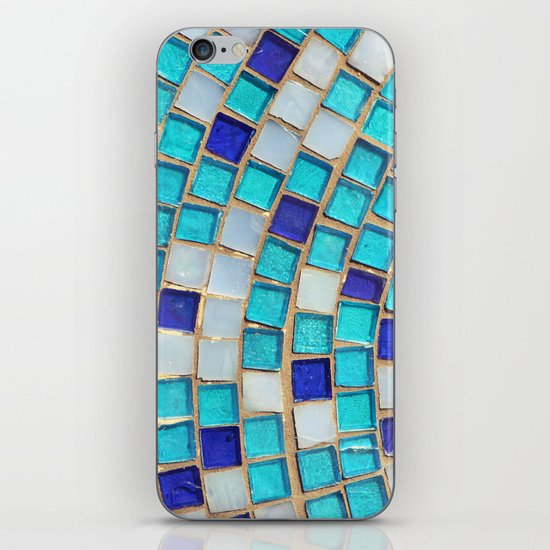 Blue Tiles - an abstract photograph. iPhone & iPod Skin