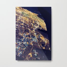 Los Angeles Lights (From a 747) Metal Print