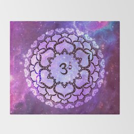 KEEP CALM AND OM MANI PADME HUM Throw Blanket