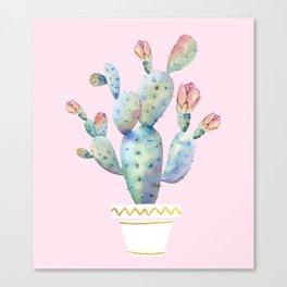 cactus watercolor 2 Canvas Print