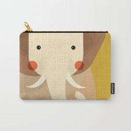 Elephant, Animal Portrait Carry-All Pouch