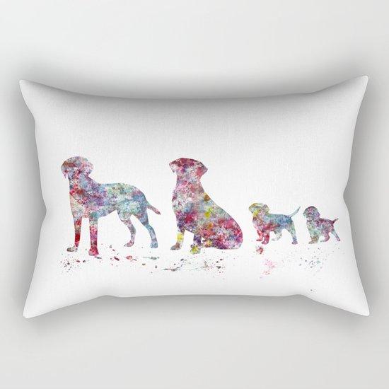 Labrador family Rectangular Pillow
