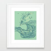 huebucket Framed Art Prints featuring Ocean Breath by Huebucket