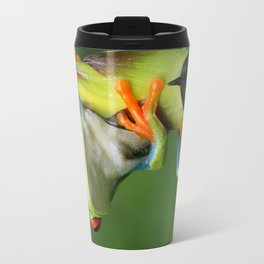 Curious Red-Eyed Tree Frog Travel Mug