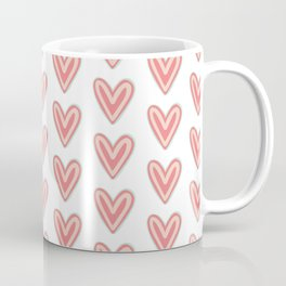 I Heart You in Pink and Coral Coffee Mug