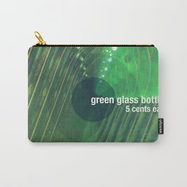 Green Glass Bottles Carry-All Pouch