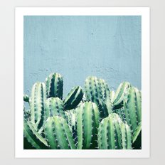 Cactus & Teal #society6 #decor #buyart Art Print