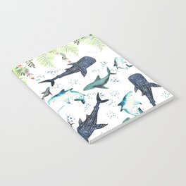 floral shark pattern Notebook