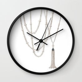 White Pearl Wall Clock