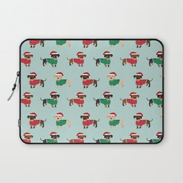 Doxie Christmas Sweaters cute dachshund pattern print dog gifts Laptop Sleeve