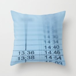 Schedule Throw Pillow