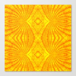 Orange Gold Sunburst Print Canvas Print