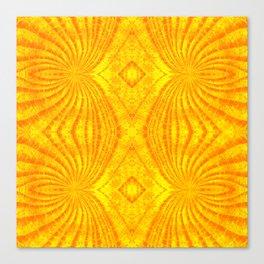 Orange Gold Sunburst Print Canvas Print
