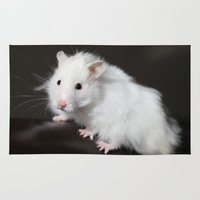 hamster Area & Throw Rugs featuring Teddy Bear Hamster by Sean Foreman
