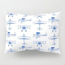 Blue Biplanes Pillow Sham