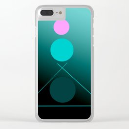 The 3 dots, power game 15 Clear iPhone Case
