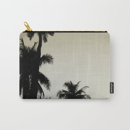 Tropical palm trees on yellow Carry-All Pouch