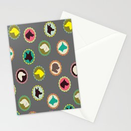 dog cameos Stationery Cards