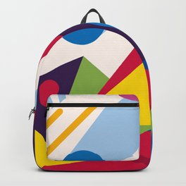 Abstract modern geometric background. Composition 11 Backpack