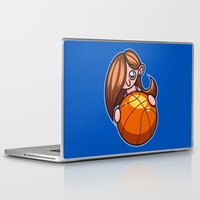 basketball Laptop & iPad Skins featuring Basketball Player by Artistic Dyslexia
