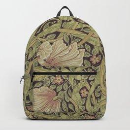 William Morris Pimpernel Art Nouveau Floral Pattern Backpack