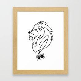 Lion Tape Art Framed Art Print