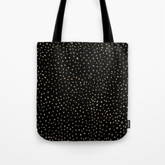 Dotted Gold & Black Tote Bag