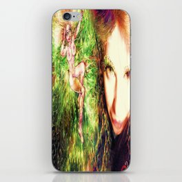 HOT SEXY FAIRY WITH GREEN WINGS NUDE BIG BREAST LADYKASHMIR ART PRINT  iPhone Skin