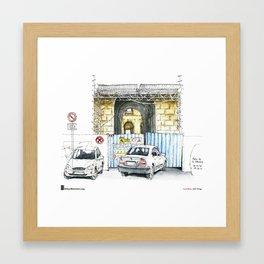 """Luis Ruiz, """"Málaga, Bad Parking"""" Framed Art Print"""