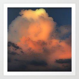 Cloud Combustion Art Print