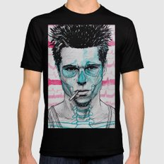 Tyler Durden Black LARGE Mens Fitted Tee