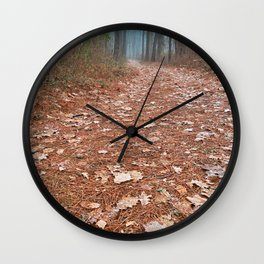 Frosty Forest Trail Wall Clock