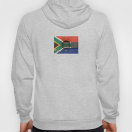 Old Vintage Acoustic Guitar with South African Flag Hoody