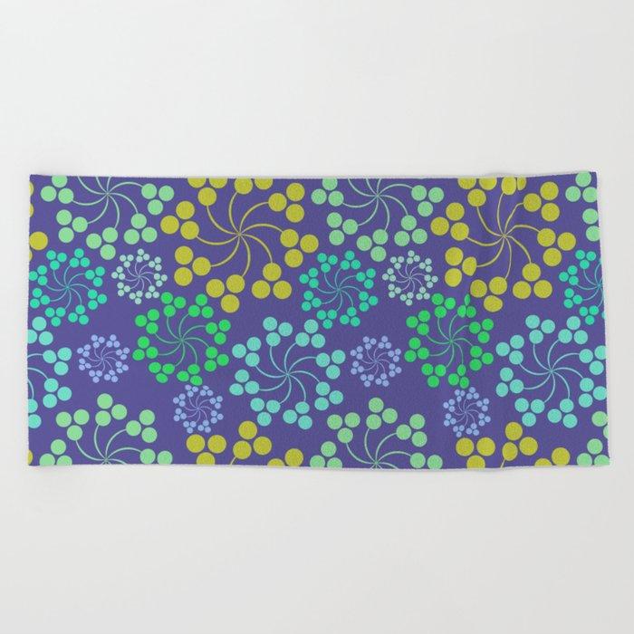 Fun Multicolored Whirligig Pattern Beach Towel