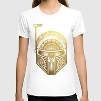 gold foil T-shirts featuring Mandala BobaFett - Gold Foil by Spectronium - Art by Pat McWain