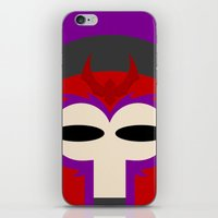 magneto iPhone & iPod Skins featuring Magneto by Oblivion Creative