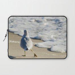 Seagull Shuffle Coastal Bird Animal / Wildlife Photograph Laptop Sleeve