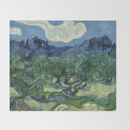 Olive Trees by Vincent van Gogh Throw Blanket