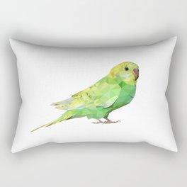 Geometric green parakeet Rectangular Pillow